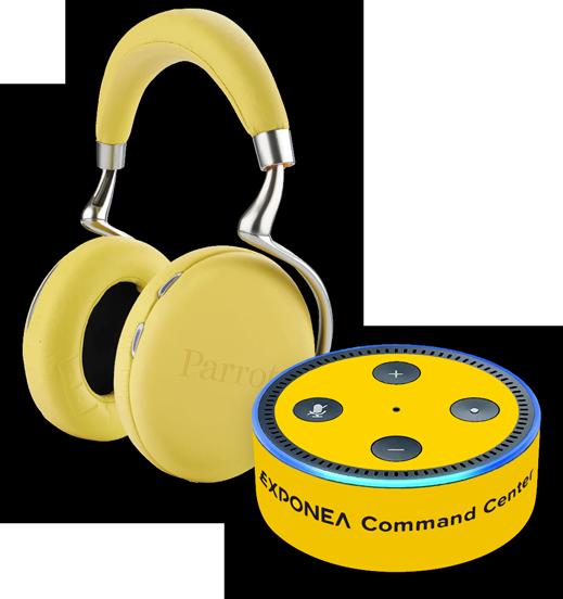 Exponea Command Center Carrod headphones