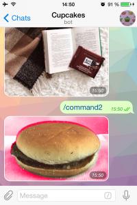 cupcake bot on telegram