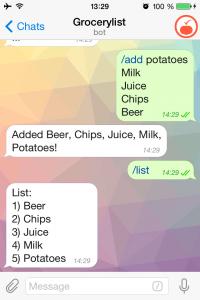 grocery chatbot on telegram
