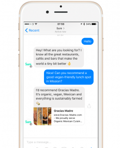 sure bot on messenger