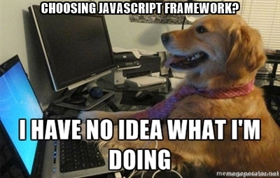 Choosing JavaScript framework? I have no idea what I'm doing