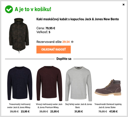 Up-sell using collaborative filtering on Zoot.sk