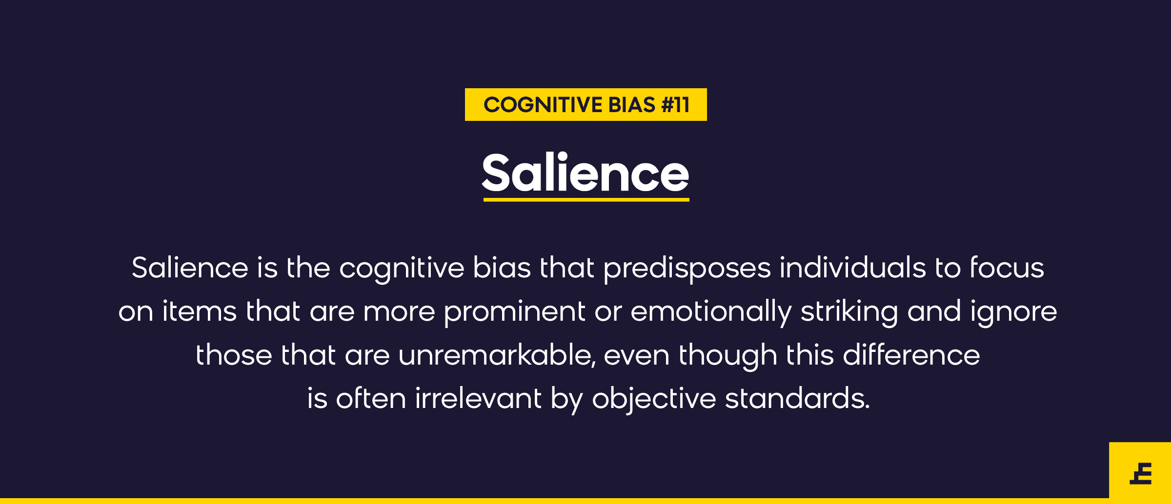 cognitive bias - salience