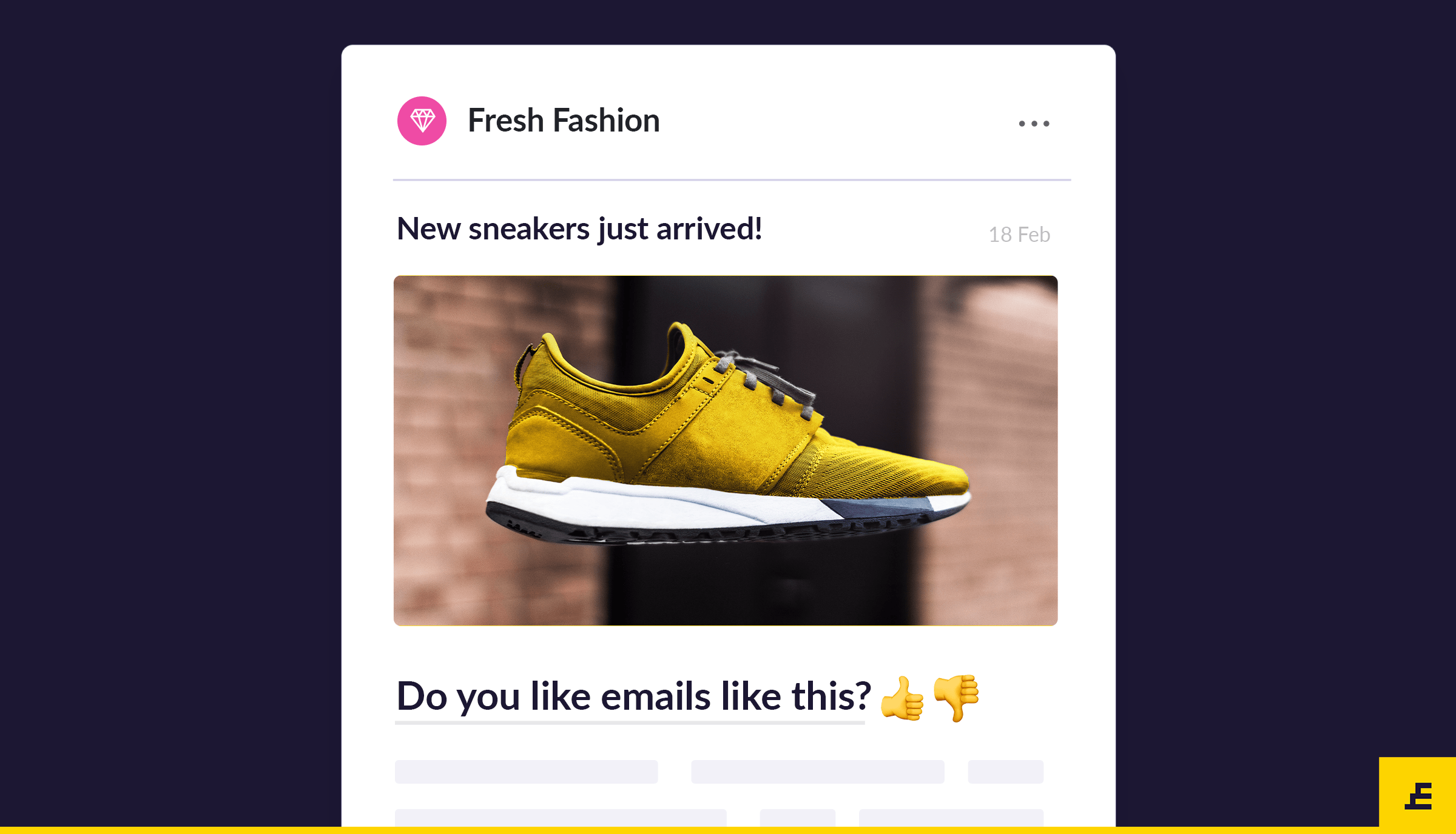 email marketing goal - feedback