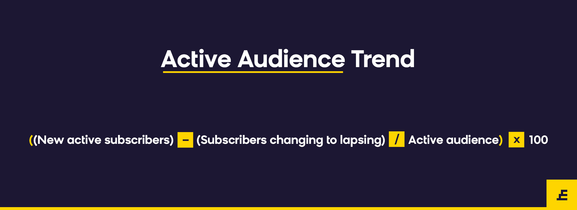 email marketing metric - active audience trend