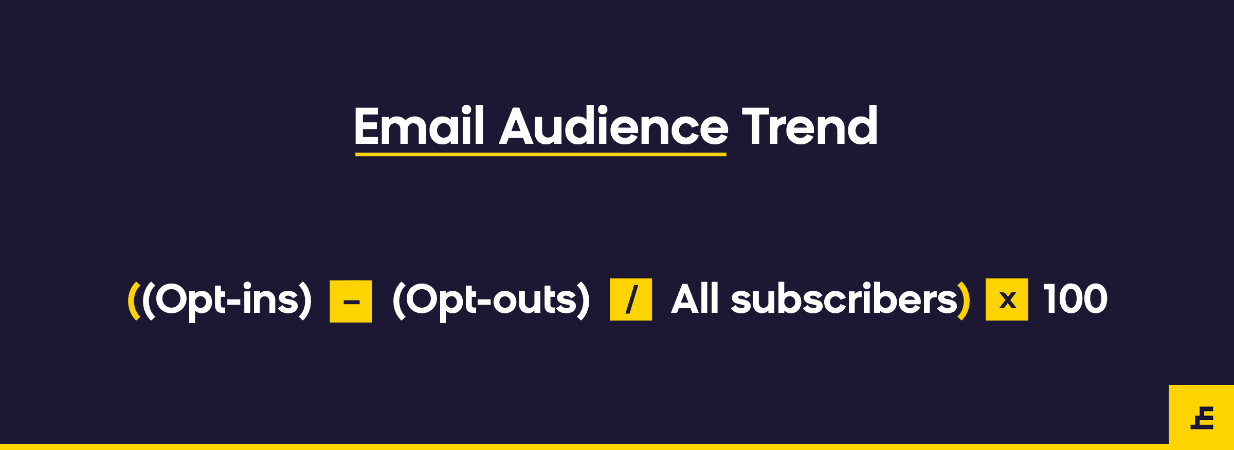 email marketing metric - audience trend