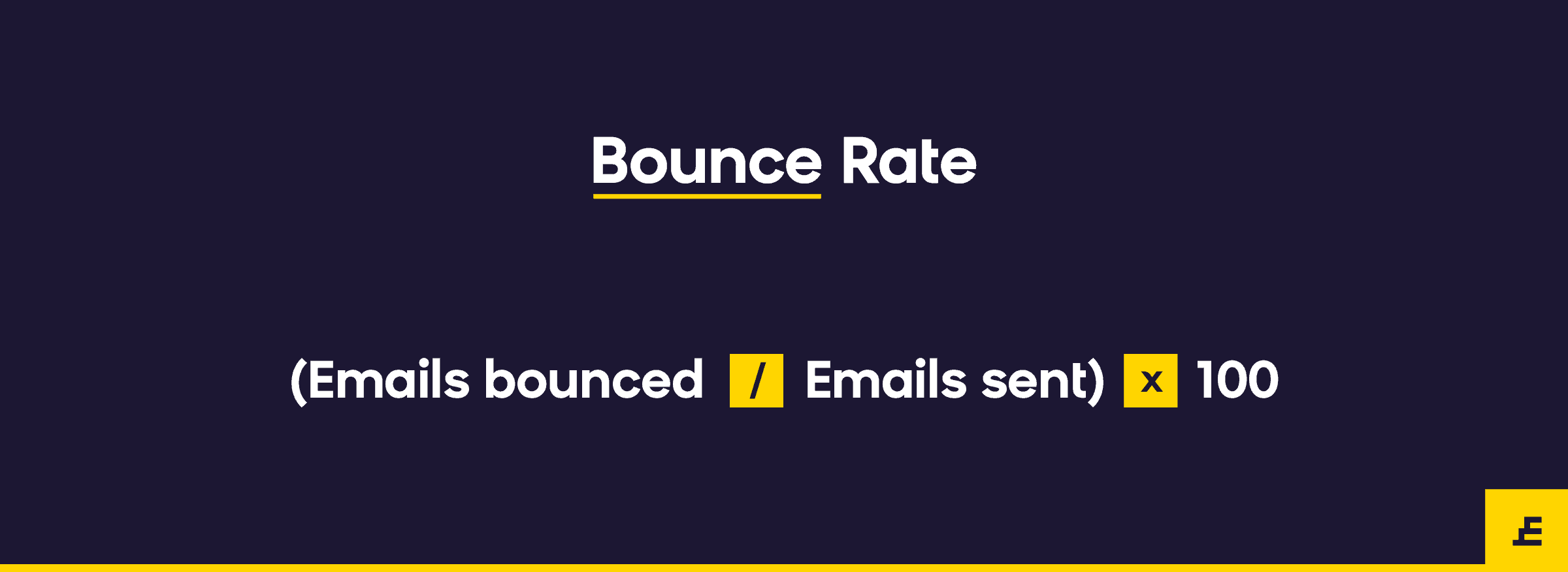 email marketing metric - bounce rate