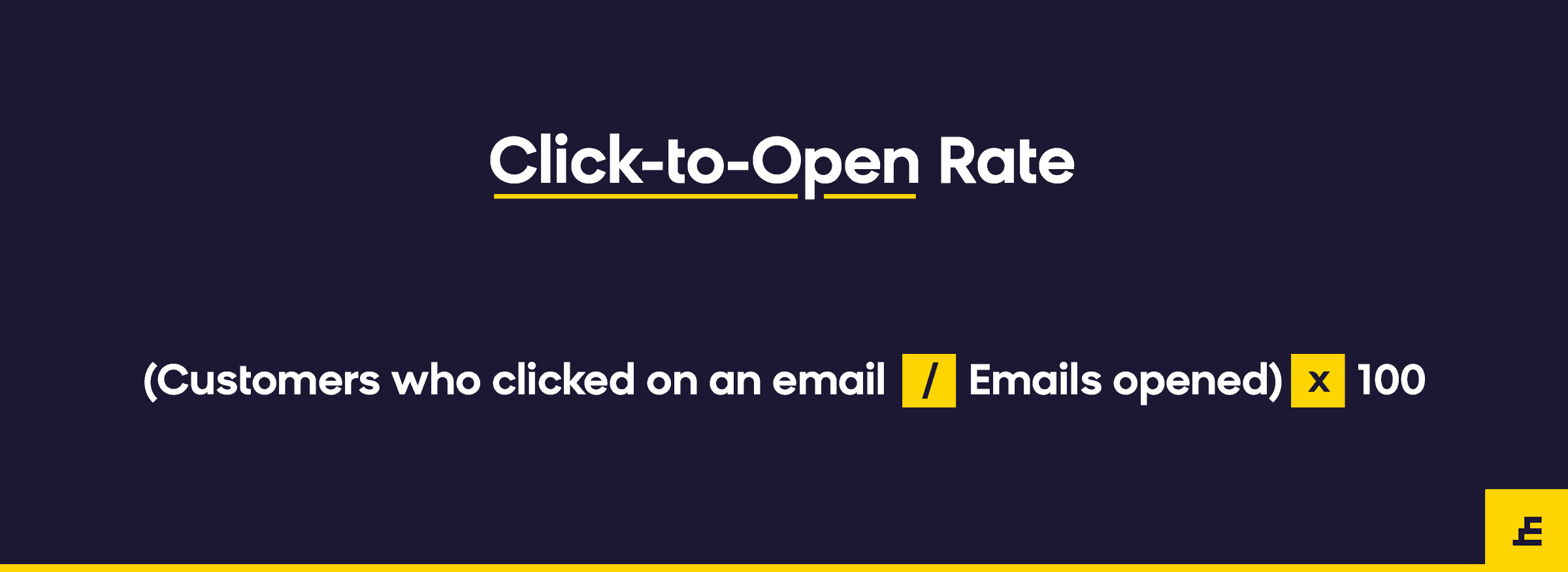 email marketing metric - click to open rate