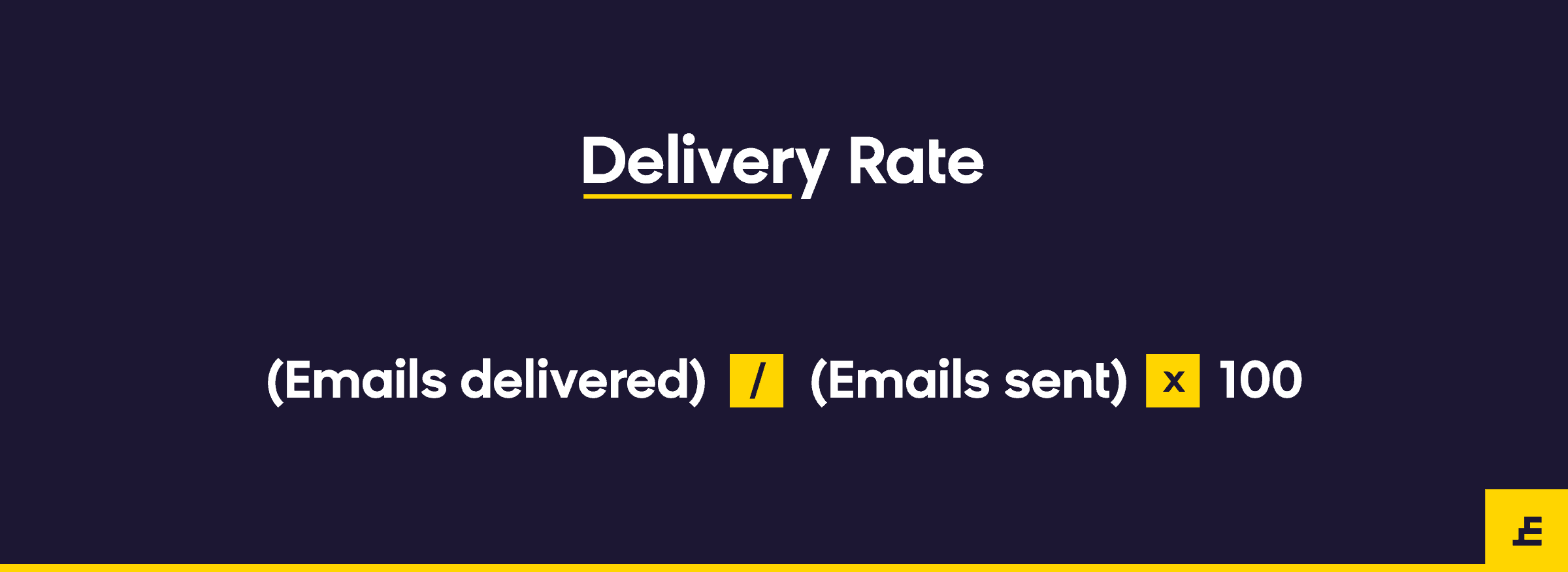 email marketing metric - delivery rate