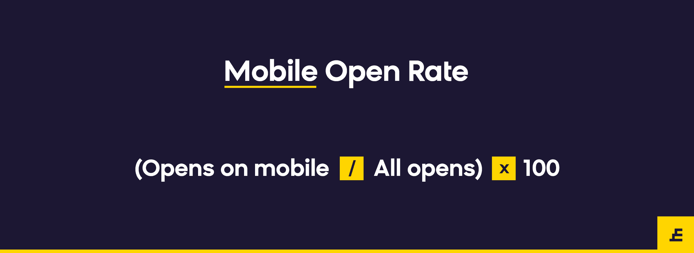 email marketing metric - mobile open rate