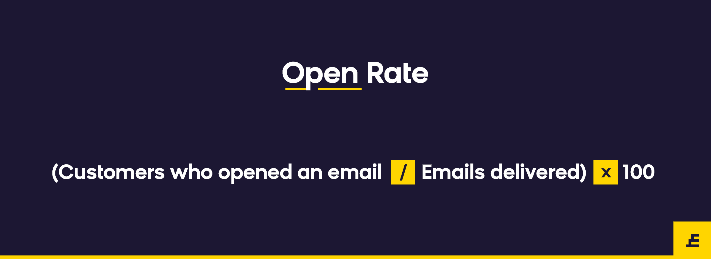 email marketing metric - open rate