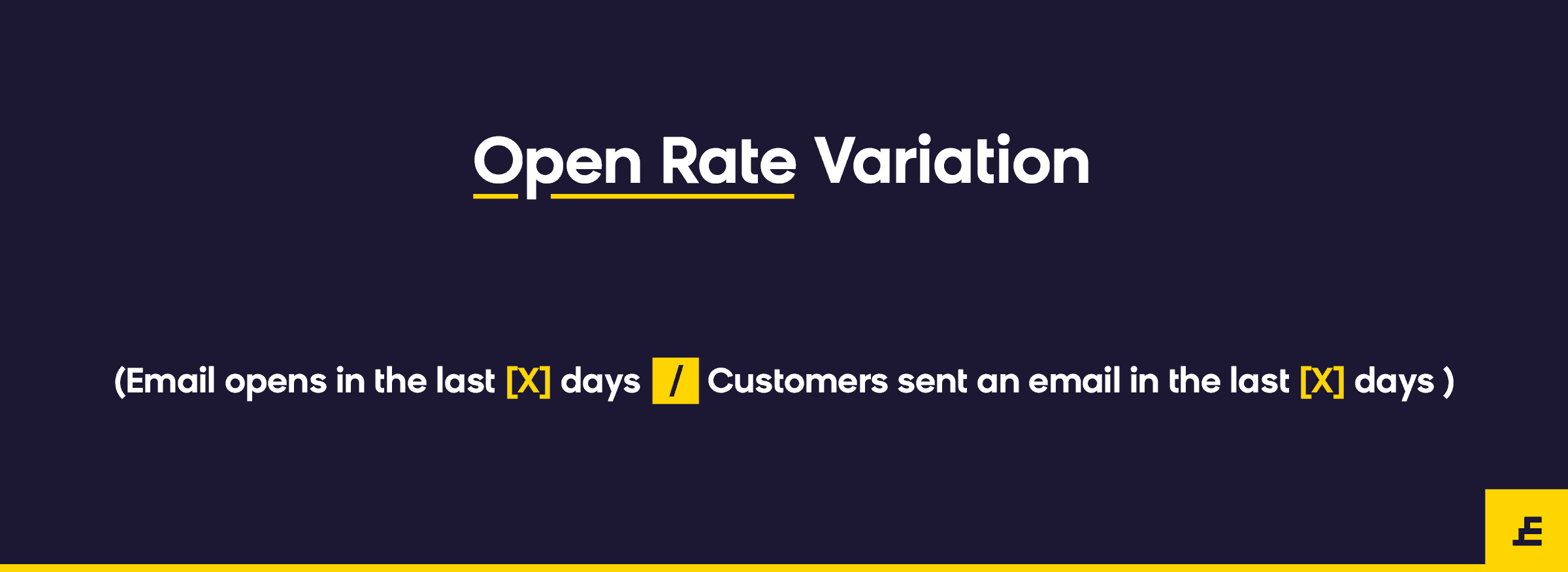 email marketing metric - open rate variation