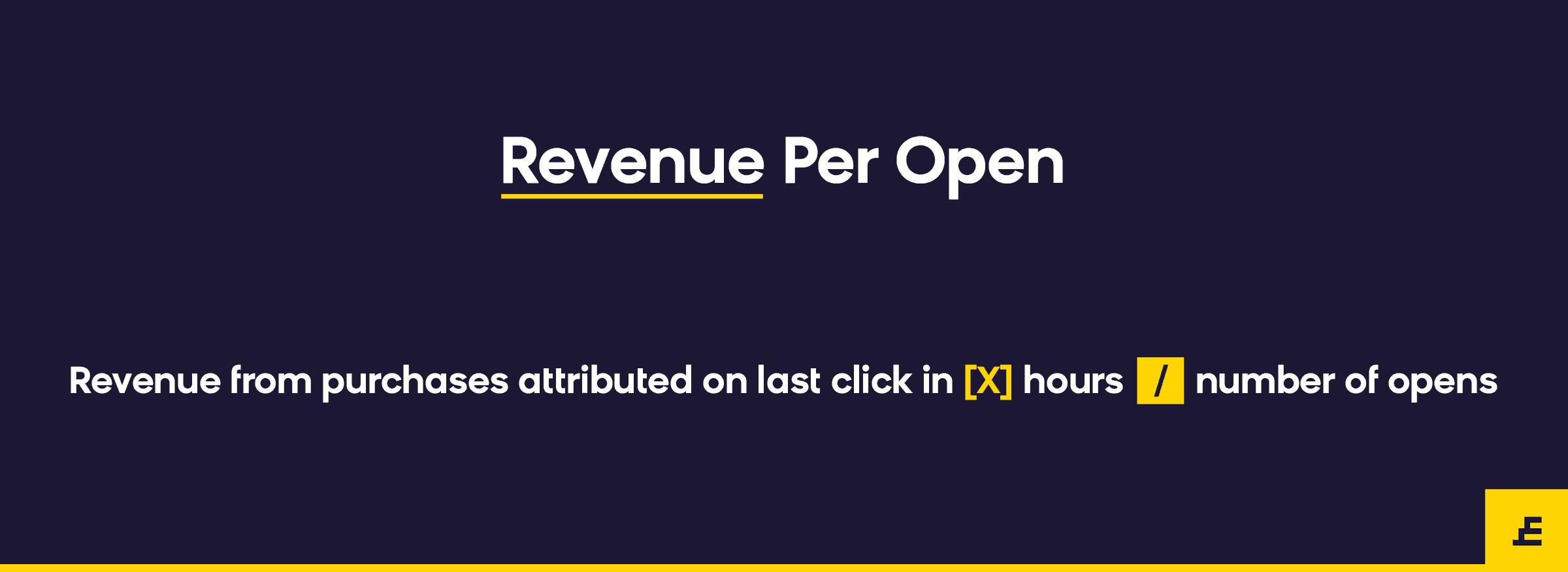 email marketing metric - revenue per open