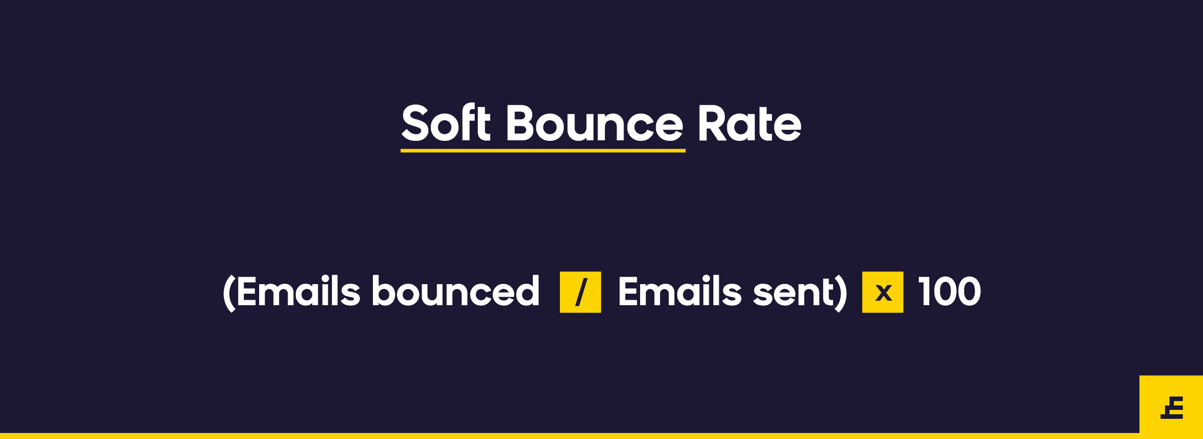 email marketing metric - soft bounce rate
