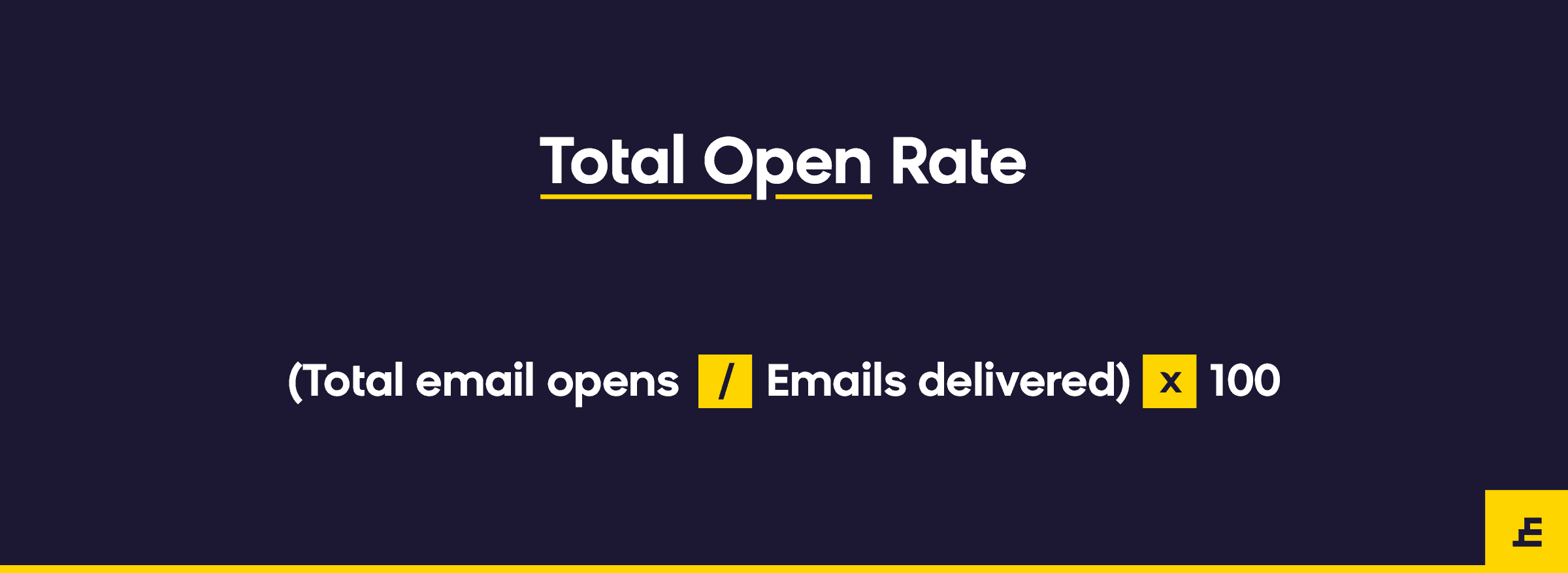 email marketing metric - total open rate