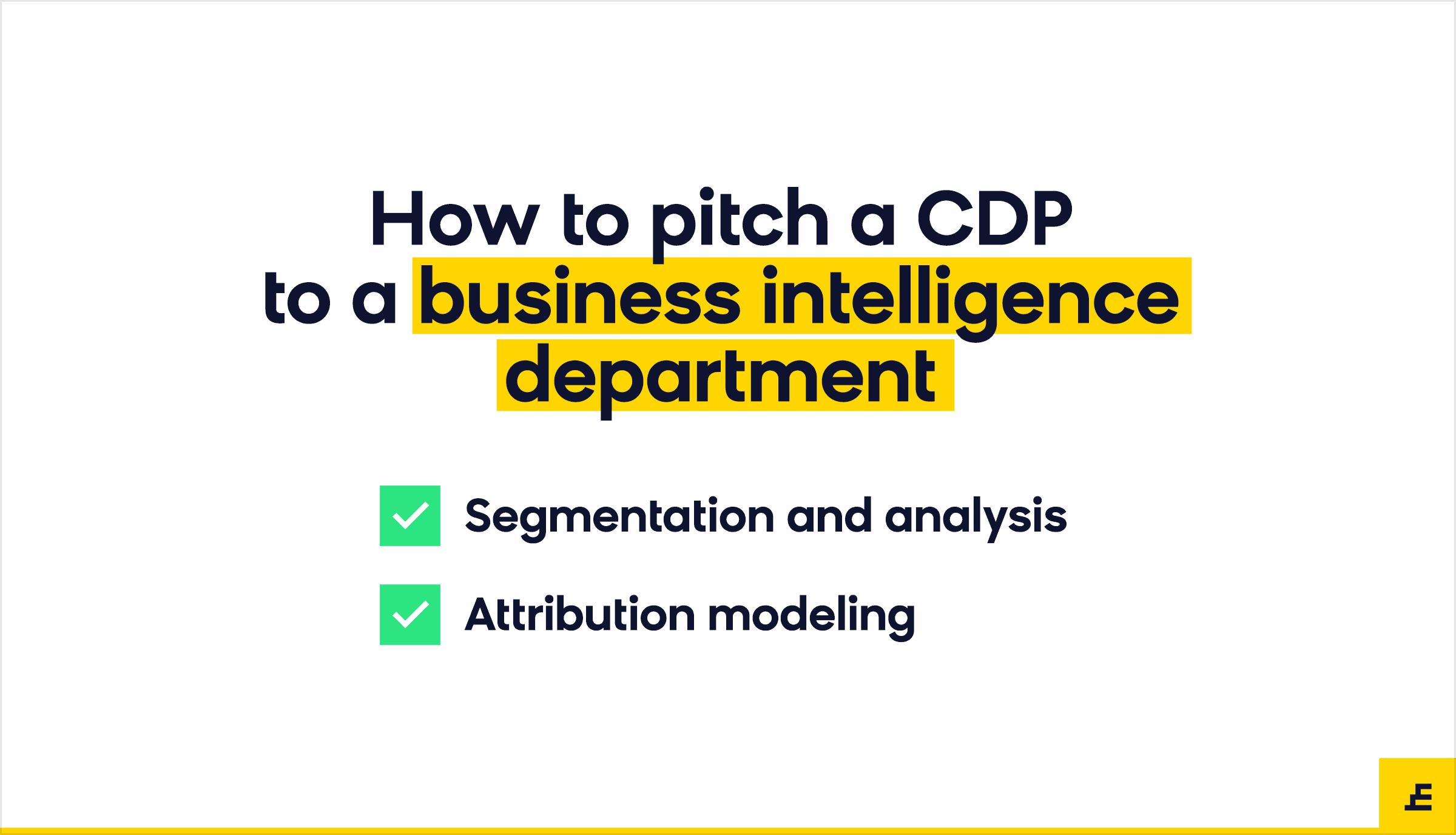 customer data platform (cdp) - business intelligence