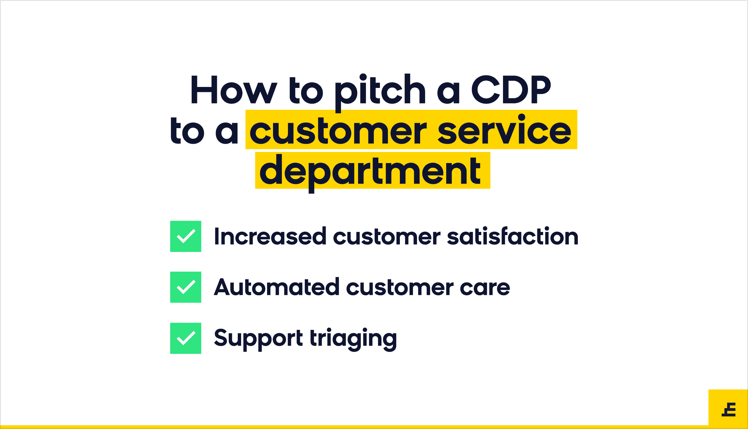 customer data platform (cdp) - customer service