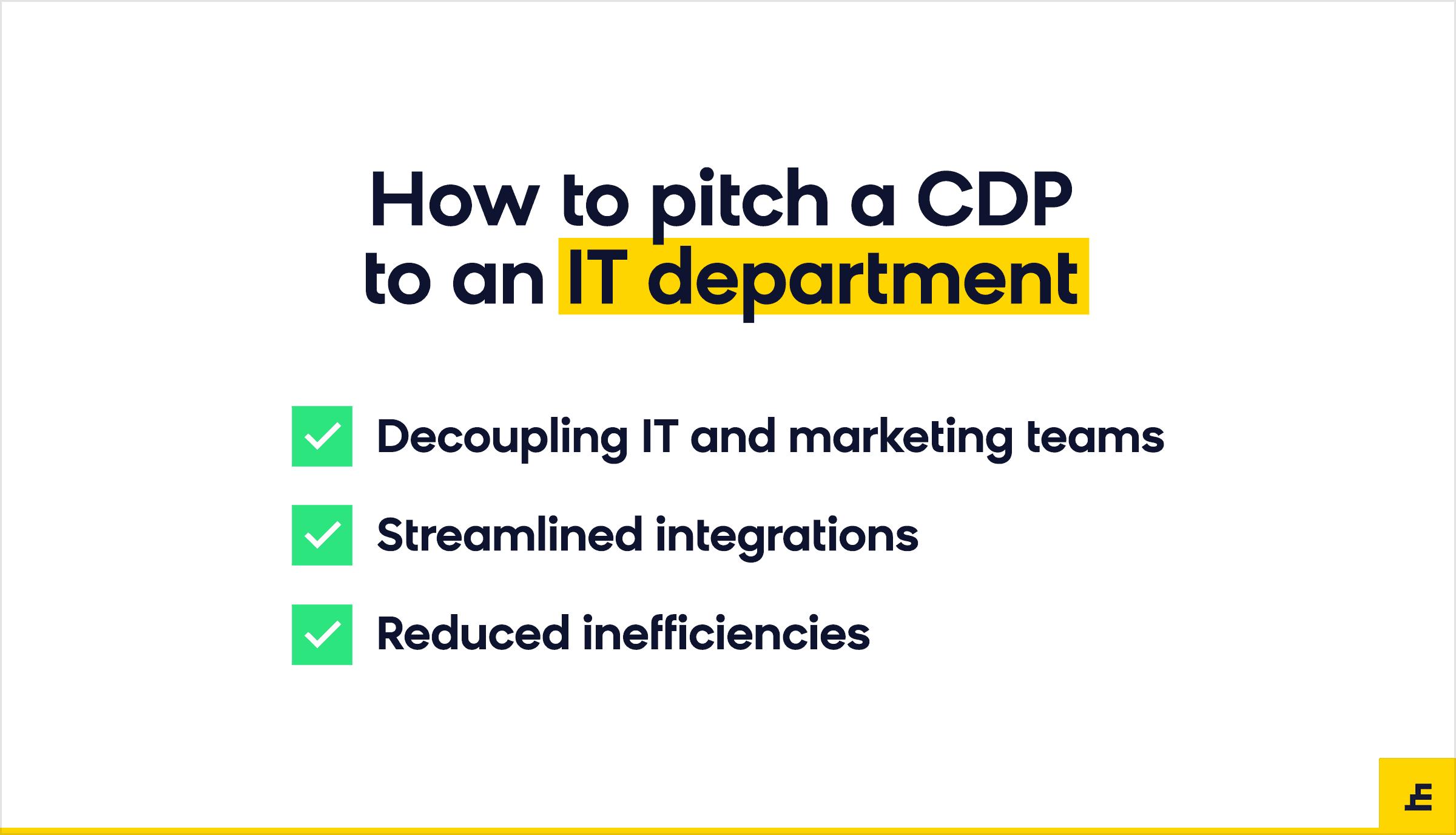 customer data platform (cdp) - it department