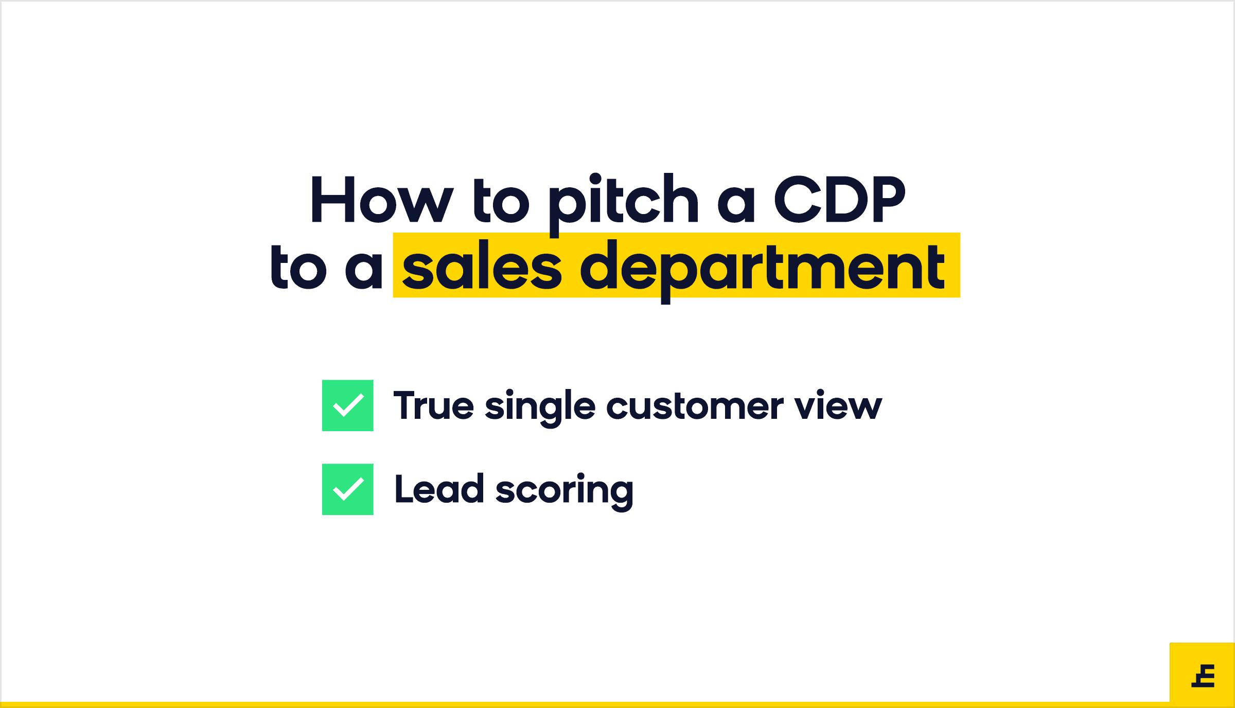 customer data platform (cdp) - sales department