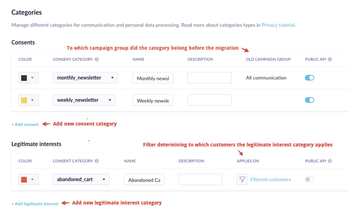 consent management platform - exponea